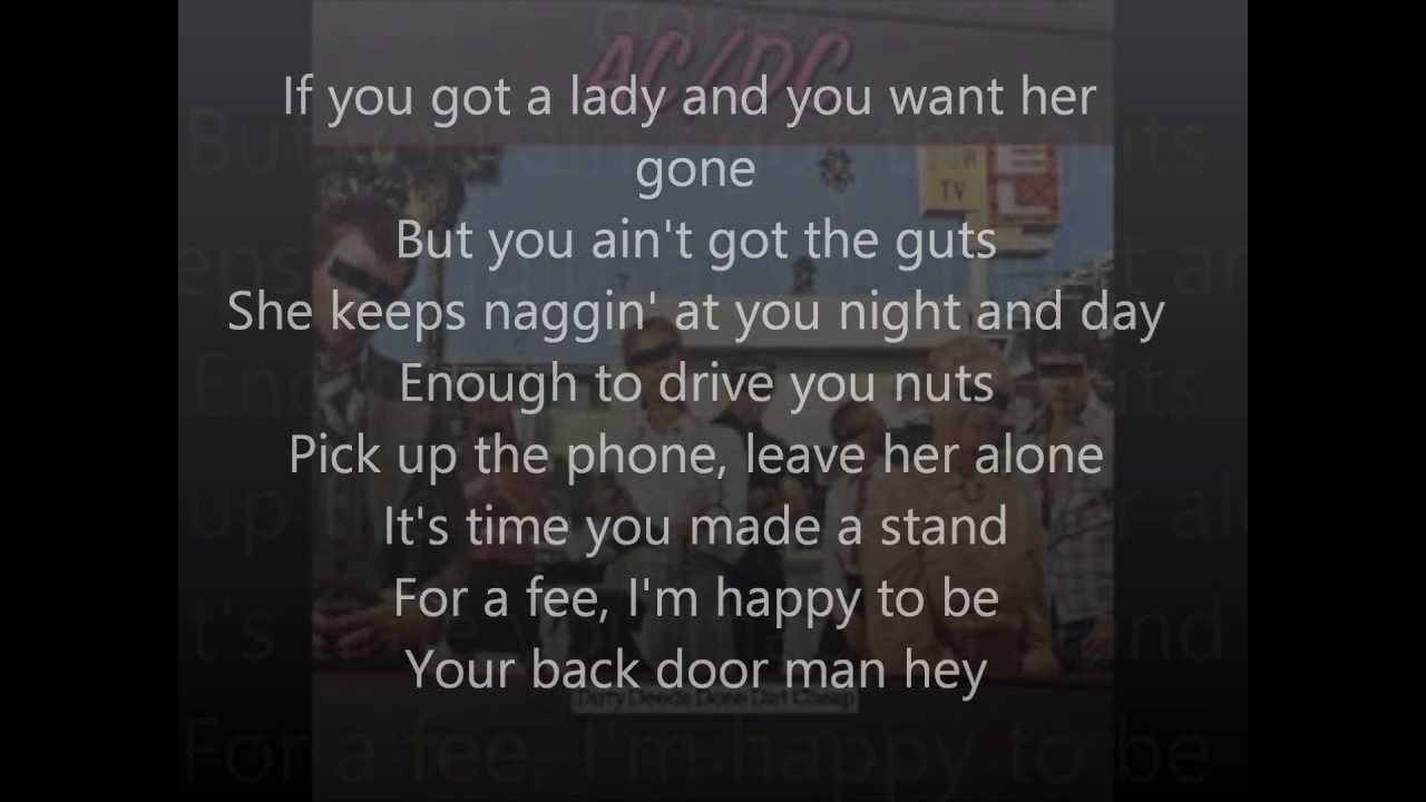 Acdc dirty deeds done dirt cheap lyrics