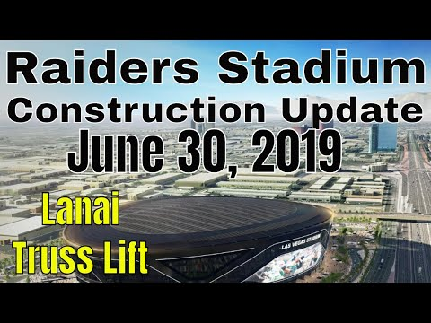 Las Vegas Raiders Stadium Construction Update 06 30 2019