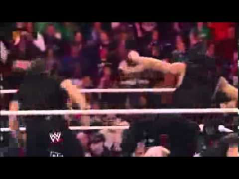 Ryback vs The Shield ( randy orton and sheamus attacks )