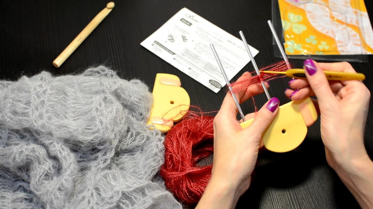Уроки по вязанию вилкой на вилке