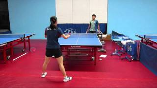 Table tennis training: Ariel Hsing style