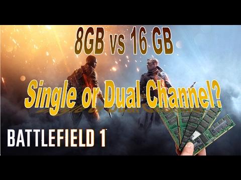 pubg: dual channel vs single channel [8gb]   1x8gb vs 2