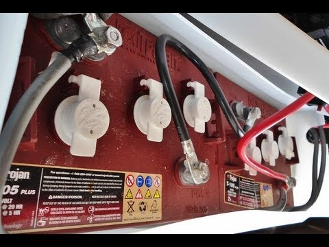 Six Volt Trojan Battery Install Rv Fifth Wheel Trailer