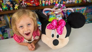 HUGE Minnie Mouse Surprise Bucket Eggs Blind Bags Surprise Egg Toys for Girls Kinder Playtime