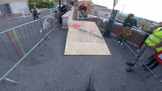 Urban Downhill - Remy Metailler following Tomas Slavik in the streets of Grasse
