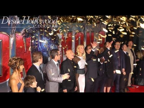 Robert Downey Jr. steals the Iron Man 3 Cast Presentation (Hollywood Premiere)