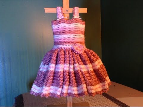 How to Crochet Easy Baby Dress - for newborn photos