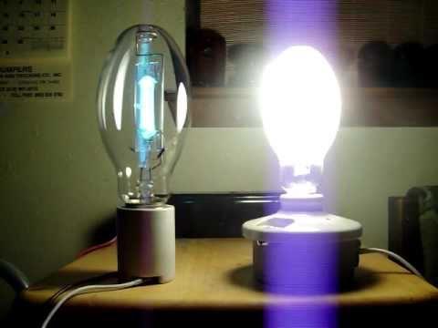 175 Watt Mercury Vapor Amp 160 Watt Sbmv Start Up Youtube