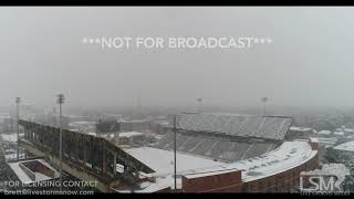 12 8 17 Hattiesburg, MS Drone Aerial Views of Snow Near University Of Southern Mississippi