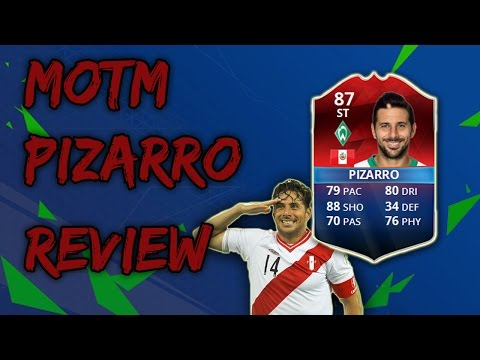 Classic/Retro MOTM Claudio Pizarro (87) Review Stats+in-Game Goals