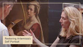 Cleaning Artemisia Gentileschi's 'Self Portrait' | National Gallery