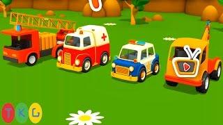 Lắp ráp Xe Cứu Thương, Xe Cần Cẩu, Xe Cảnh Sát, Cứu Hộ | Kids Puzzles | TopKidsGames
