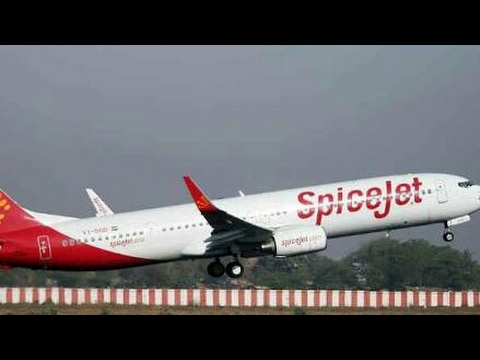 Beautiful Landing of SpiceJet SG511 Ahmedabad Hyderabad Flight at Hyderabad International Airport