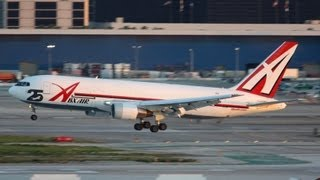 ABX Air Cargo '25 year anniversary' Boeing 767-281(BDSF) Landing at LAX