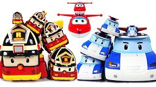 Gift of Super Wings! Robocar Poli have transformed friends that grow bigger and bigger! - DuDuPopTOY