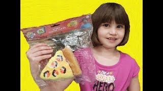 "Nadira's ""Ryan's SQUISHY PIZZA"" toy video review"