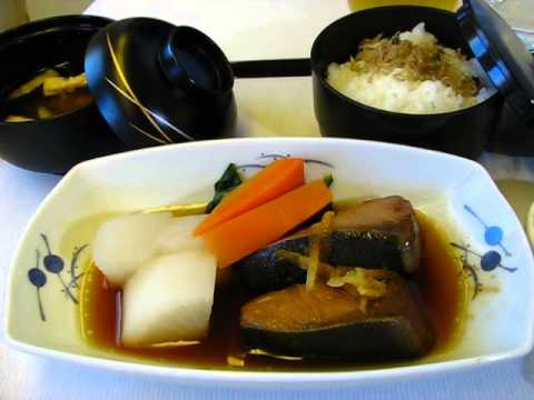ANA Business Class Staggered service Narita-JFK ANA全日空ビジネスクラス機内食