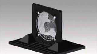 "Crawl Space Portable Fan  with 12"" fan moves 1115 CFM - Crawl Space Door Systems, Inc."