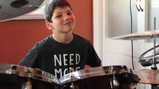 "Unbelievable 9-Year Old Drummer plays ""Heathens"" by Twenty One Pilots"