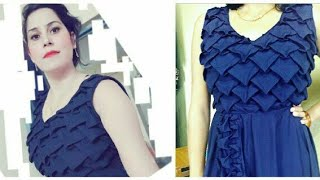 Download How to make designer frock (ladies) with smocking 3Gp Mp4