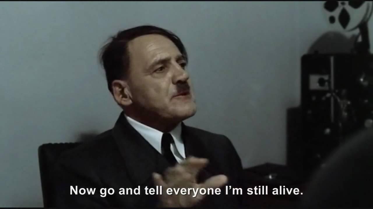 Hitler is informed he is still alive
