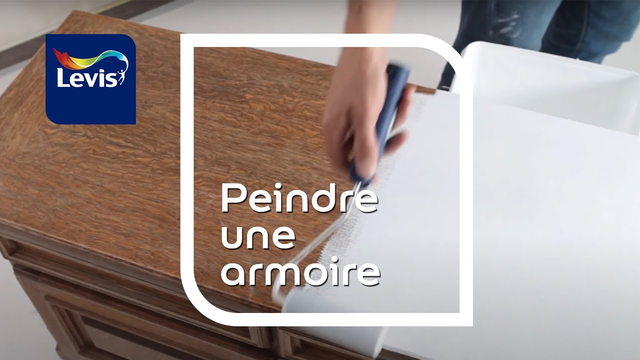 comment peindre une armoire en bois youtube. Black Bedroom Furniture Sets. Home Design Ideas