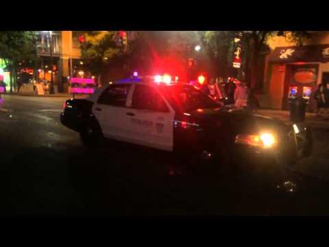 Austin TX Police Cruiser Lights 6th Street