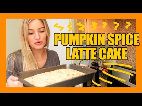 How to make a Pumpkin Spice Latte Cake! | iJustine Cooking