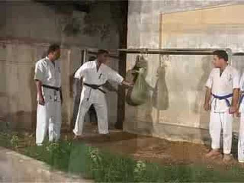 Kyokushin karate Breaking and demo by Mobin Arif Image 1