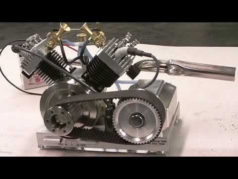 Early Run of My V-Twin model Engine by Terry Mayhugh