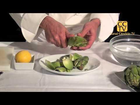 Preparar corazones de alcachofa