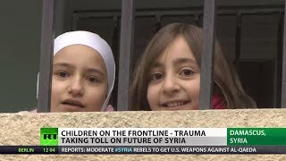 Kids on Frontline: (Syria) children study as missiles fall nearby  2/4/14