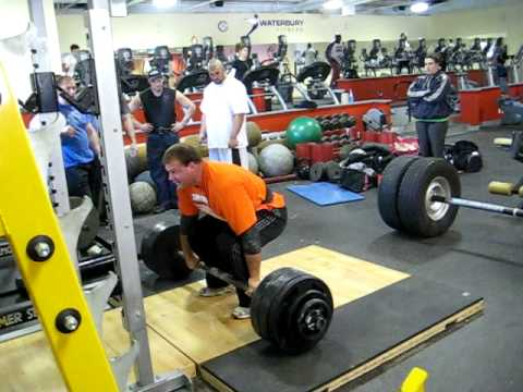 Derek Poundstone 410 lb Axle Clean and Press for a double Image 1