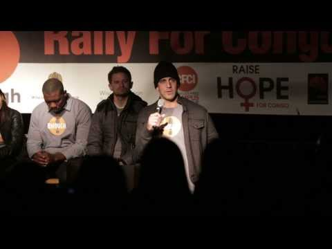 Raise Hope for Congo Rally with Aaron Rodgers at UW-Madison