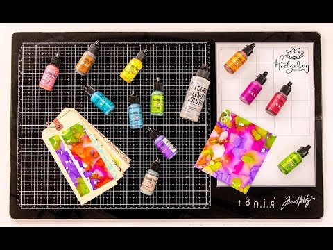 Alcohol Ink Pearls Tips with Ranger Ink - Inktoberfest DAY 12