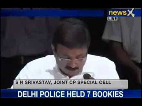 News X : IPL 2013 Spot fixing Delhi Police Live Conference