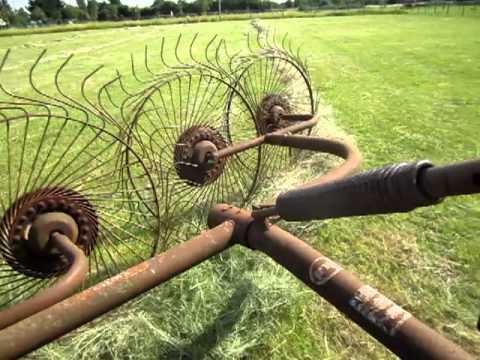 Fergie turning hay