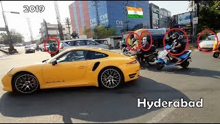 Porsche 911 Turbo S rolling out in City | Techart Engine Tune & Exhaust | 2019 | INDIA