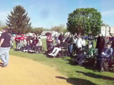 Youth Baseball Honors Veterans.wmv