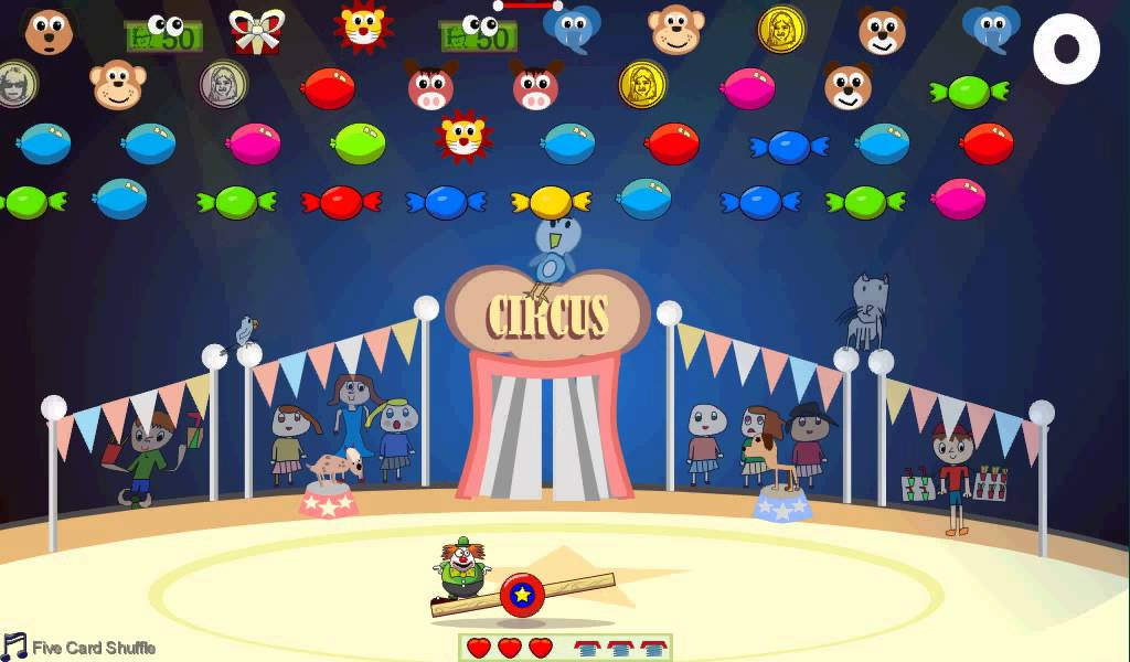 Games Games Circus Acrobats Seesaw Circus Game