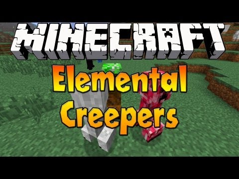 Minecraft 1.6.1 - Elemental Creepers Mod 1.5.2 - Mod Review