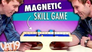 Magnetic Foosball / Air Hockey Game uses Magnetism // Klask Review