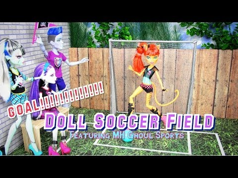 How to Make a Doll Soccer Field   Plus Quick Review MH Ghoul Sports