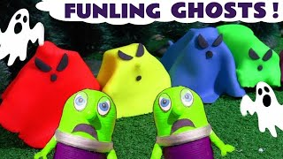 Learn Colors with Spooky Ghosts in Play Doh with Funny Funlings and Thomas The Tank Engine TT4U