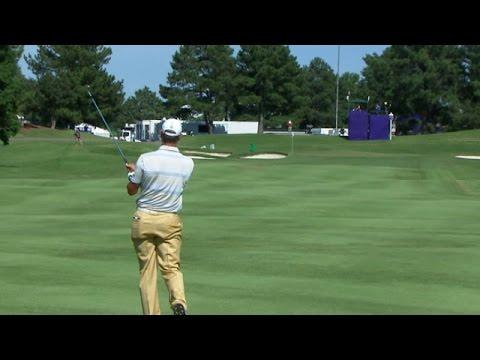 Shawn Stefani sticks his approach shot firm at FedEx St. Jude
