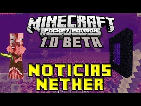 Noticias Minecraft PE 1.0 Beta Nether y Dimensiones Tommaso Checchi