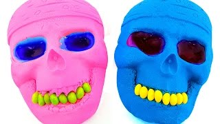 DIY How to Make Kinetic Sand Mask Mold Slime Play doh Carrot Learn Colors For Children Fun
