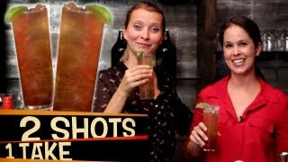 How to Make Long Island Iced Tea (with Rachel's English) | 2 Shots 1 Take!
