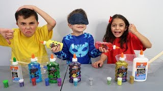 Our Baby Brother Pick Our Slime Ingredients Challenge!