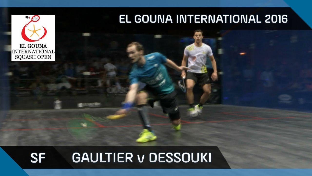 Squash: Gaultier v Dessouki - El Gouna International 2016 SF Highlights